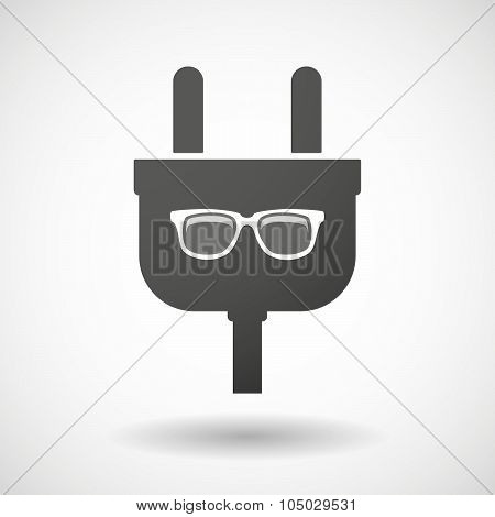 Isolated Plug Icon With A Glasses