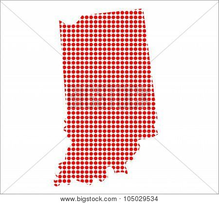 Red Dot Map Of Indiana