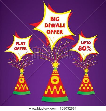 happy diwali offer banner design