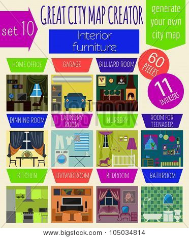 Great city map creator. House constructor.Interiors, furniture. Make your perfect city