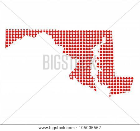 Red Dot Map Of Maryland