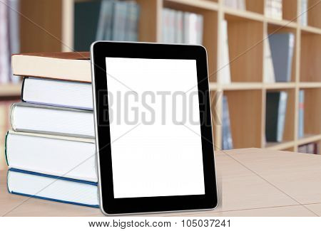 Books and E-reader.