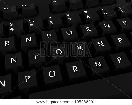 Porn Porn Porn Computer Keyboard Background