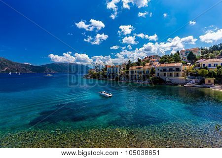 Fiscardo on the Island of Kefalonia in Greece