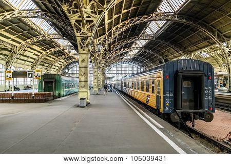 Train Platforms At The Vitebsk Railway Station.saint-petersburg.russia.