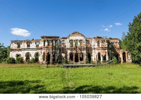 The Ruins Of The Gostilitskiy Palace And Park Ensemble In The Leningrad Region.russia.