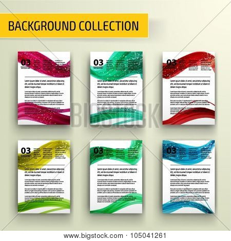 Abstract background collection for business artwork. Vector Illustration, Graphic Design Editable For Your Design.