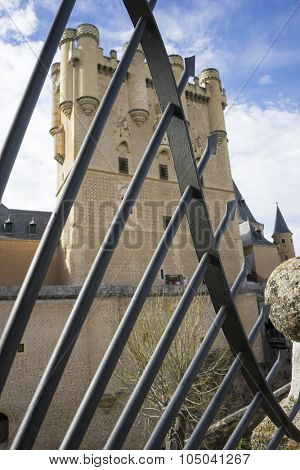 Medieval, alcazar castle city of Segovia, Spain. Old town of Roman origin
