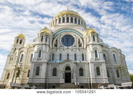 Naval Cathedral Of St. Nicholas In Kronstadt, St-petersburg.