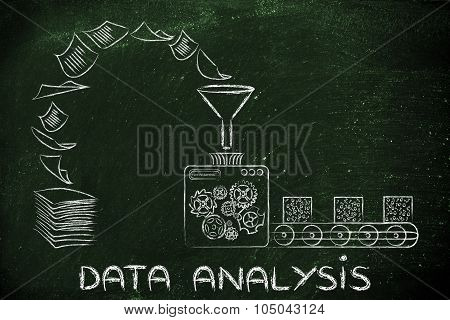 Data Analysis & Business Intelligence: Factory Machines Transforming Documents Into Organised Data