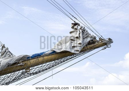 Sailboat Prow Mast With Sails Collected