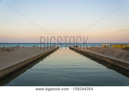Lake Alimini That Ends In The Sea