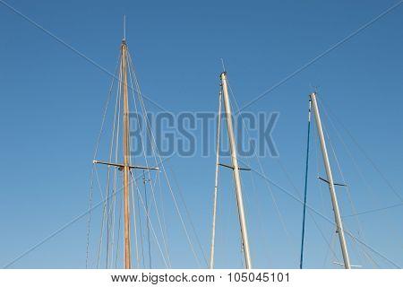 Masts Of Sailing Yachts