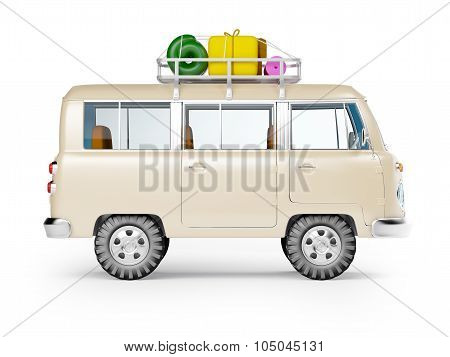 safari van with roofrack side view
