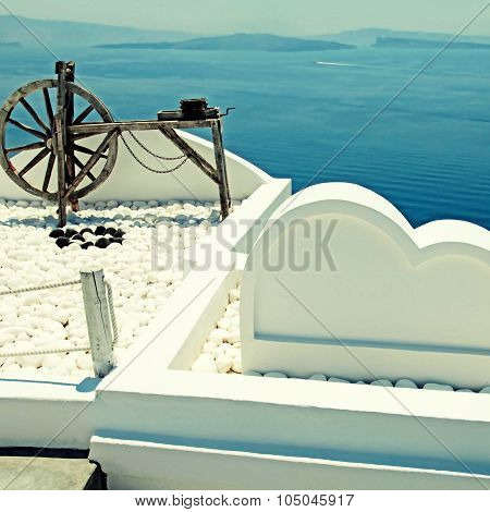 Beautiful Architectural Details Of Santorini Island, Greece