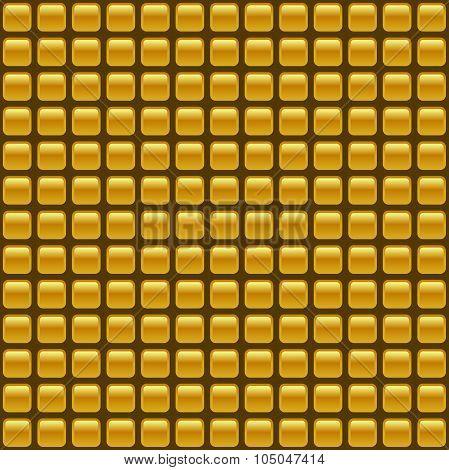 Tiled Seamless Golden Vector Background