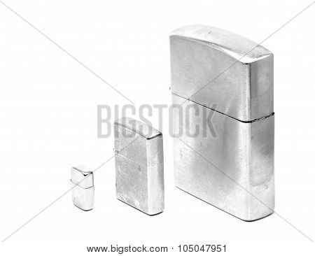 Three Silver Lighters