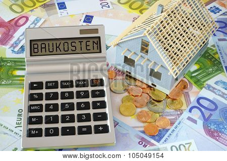 The Word Building Costs On Calculator Display