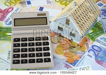 Pocket Calculator With Blank Display