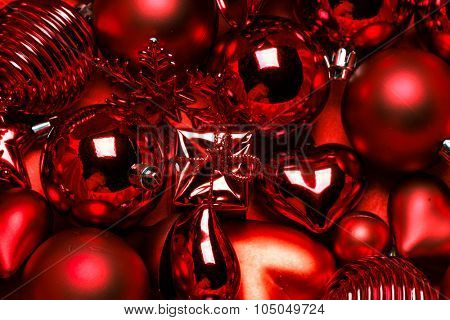 Red vintage christmas ornament background