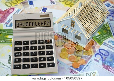 The Word Building Loans On Calculator Display