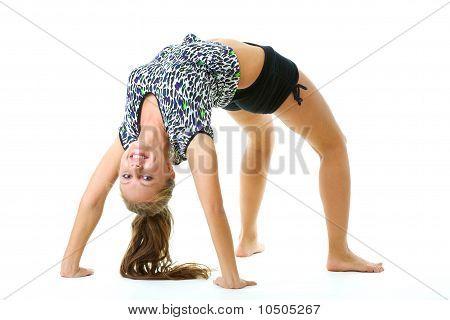 Girl doing body bridge