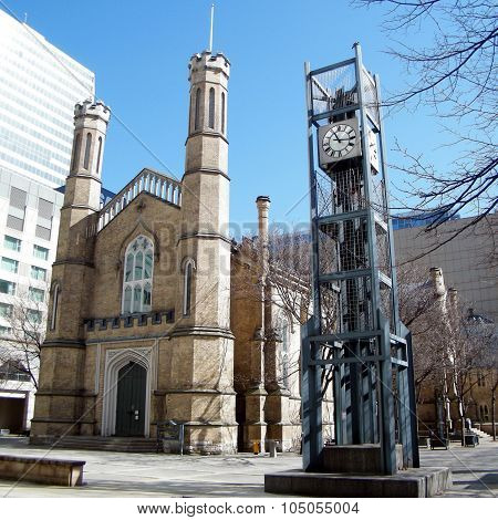 Toronto Clock Near Church Of The Holy Trinity 2010