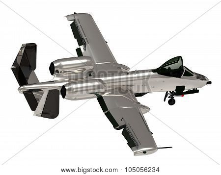 Military Silver Jet Airplane During Airshow
