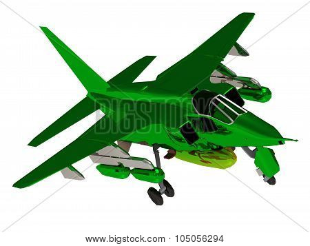 Fighter Green Color Army Airplane During Airshow