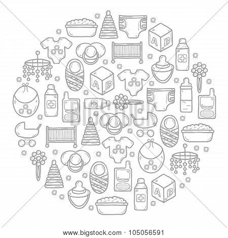 Vector baby care background