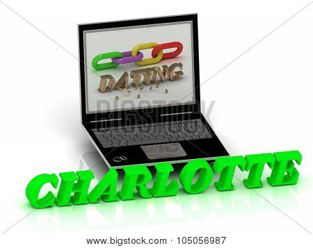 Charlotte- Name And Family Bright Letters Near Notebook