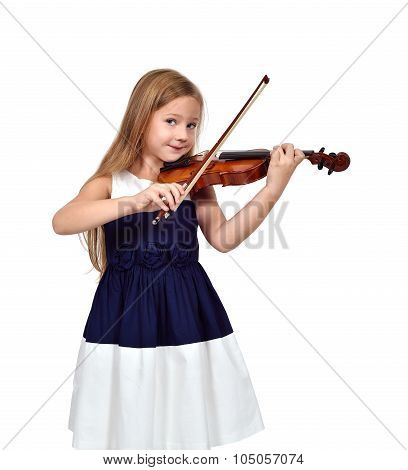 Little Girl Playing The Violin