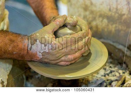 Potter Creating A Jar