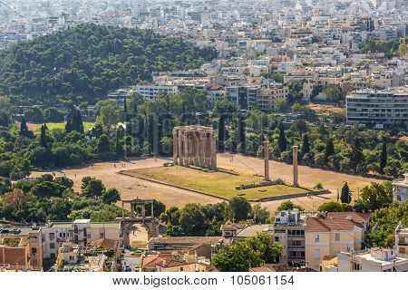 Temple Of Zeus  In Athens, Greece