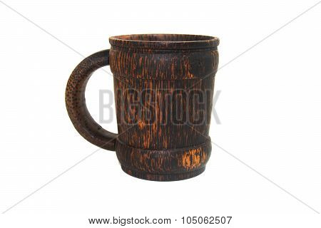 Wood Cup Handcraft Made From Palm