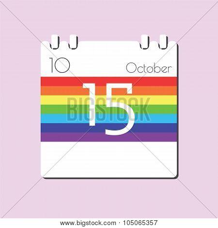Rainbow Calendar Icon