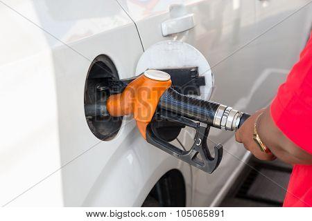Petrol Pump Filling Closeup