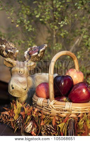 Baket Of Autumn Apples