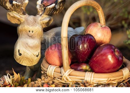 Baket Of Autumn Apples