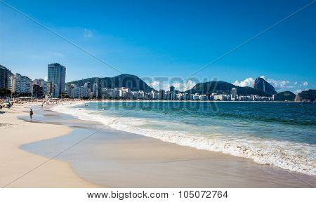 Beautiful Copacabana Beach in Rio de Janeiro. Brazil.
