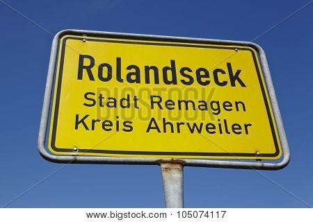 Rolandseck (remagen) - Town Sign