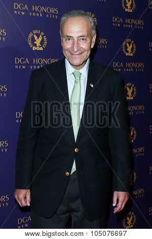 NEW YORK-OCT 15: U.S. Senator (D-NY) Charles Schumer attends the DGA Honors Gala 2015 at the DGA Theater on October 15, 2015 in New York City.