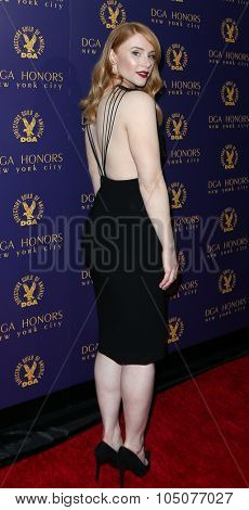 NEW YORK-OCT 15: Actress Bryce Dallas Howard attends the DGA Honors Gala 2015 at the DGA Theater on October 15, 2015 in New York City.