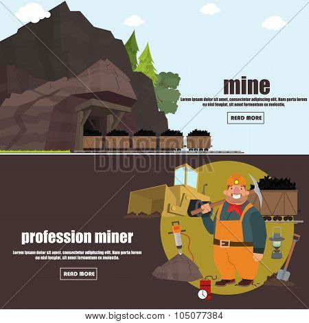miner working in a mine