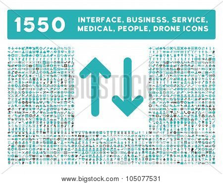 Flip Vertical Icon and More Interface, Business, Tools, People, Medical, Awards Flat Glyph Icons