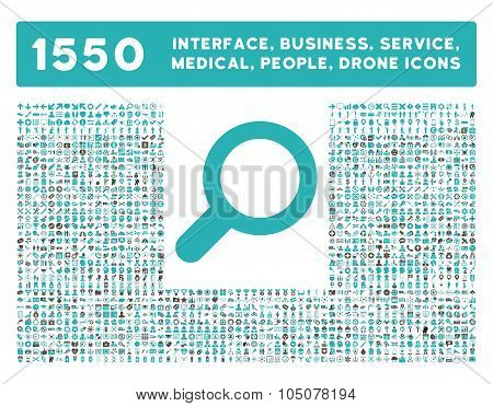 View Icon and More Interface, Business, Tools, People, Medical, Awards Flat Glyph Icons
