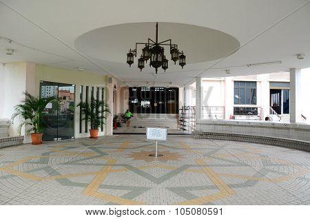 Lobby of Kuching Town Mosque a.k.a Masjid Bandaraya Kuching in Sarawak, Malaysia