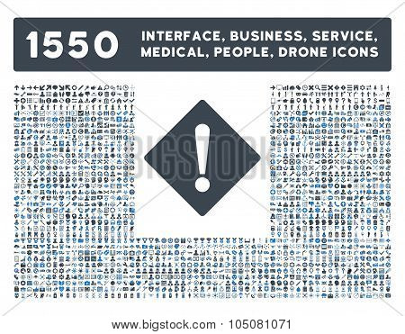 Error Icon and More Interface, Business, Tools, People, Medical, Awards Flat Glyph Icons
