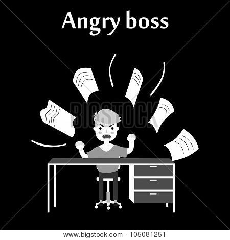 the angry boss