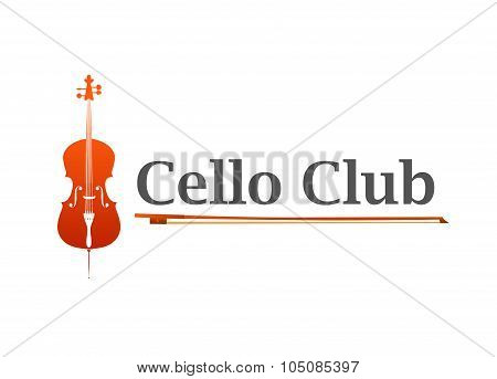 Logo Of Cello Club Or Music Shop